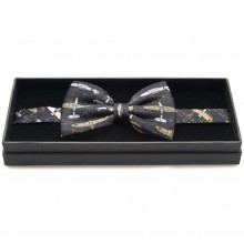 Silk Bow Tie - WW2 Aircraft on Black