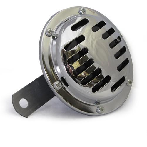 6 Volt Chrome Horn - 105mm Diametre