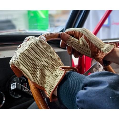 Grand Prix Driving Gloves - Brown image #1