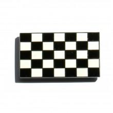 Enamel Chequered Flag Stick On Badge