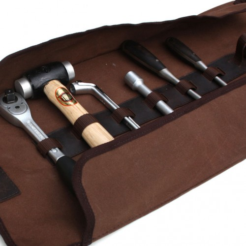 Canvas Tool Roll With Holden Logo Green - Holds 14 tools image #3
