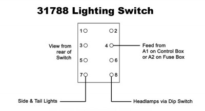 Lucas 57SA Type Off-on-on Toggle Switch for Lighting or Heat