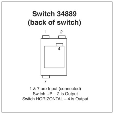 Lucas 108SA Type 0n-on Changeover Toggle Switch