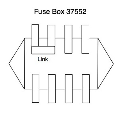 Lucas 7FJ Fuse Box for four Glass Type Fuses