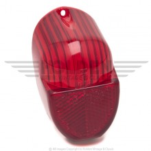 Lucas L672 Type Rear Lamp Lens Only - Red