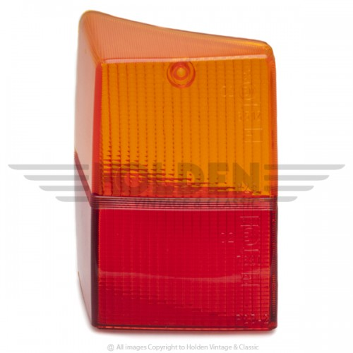 Lucas L940 Type Rear Lamp Red & Amber Lens Only - Left Hand image #1