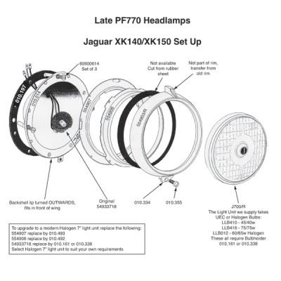 Jaguar XK140/150 Headlamp Rim