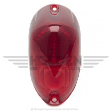 Lucas L549 Type Rear Lamp Lens Only - Red