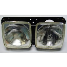 Twin Square Headlamp Set - Vauxhall VX2300