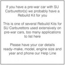 Rebuild Kit for one HV3 & H2 Carburettor