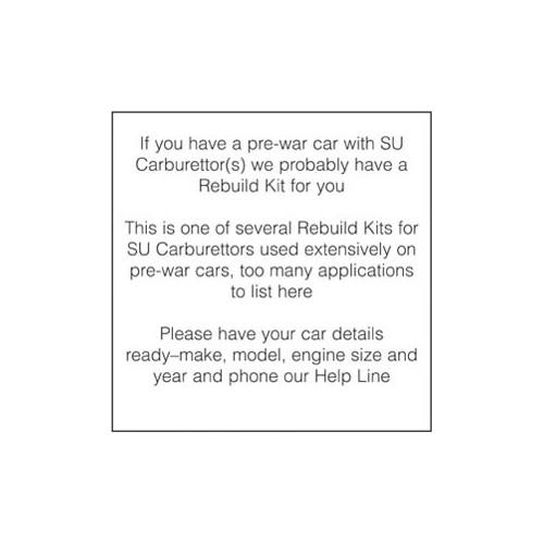 Rebuild Kit for one H4 Carburettor image #1