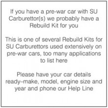 Rebuild Kit for one H1 Carburettor