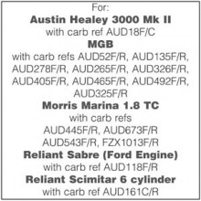 Rebuild Kit for two HS4 Carburettors