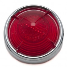 Lucas L551 Type Rear Lamp Red Lens & Rim