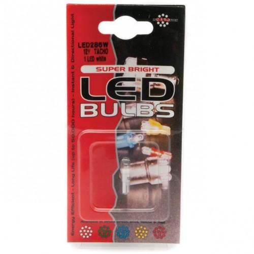 Capless LED Bulb 12v 1.2w (W2x4.6d) - White -Pair LED286W image #1