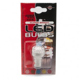 12v 21/5w Offset Pin Double Contact Red LED Bulb LED380R BA15d Cap