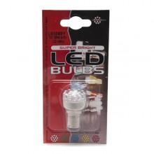 12v Single Contact Amber LED Bulb BA15s Cap - Pair LED382Y