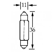Bulb Festoon 6v 10w  LLB1059