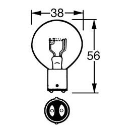 12v Bulb Double Contact 36/36w LLB171