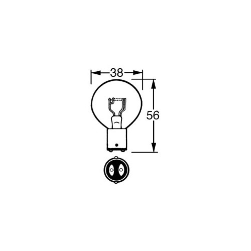 12v Bulb Double Contact 36/36w LLB171 image #1