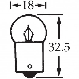 6v 5w Single Contact Bulb BA15s Cap LLB205