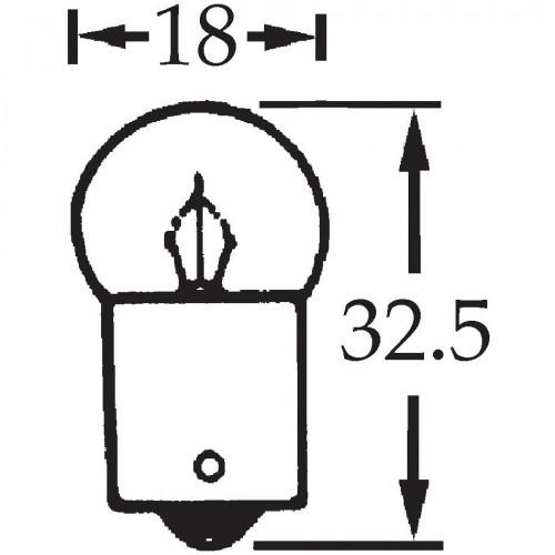 6v 5w Single Contact Bulb BA15s Cap LLB205 image #1