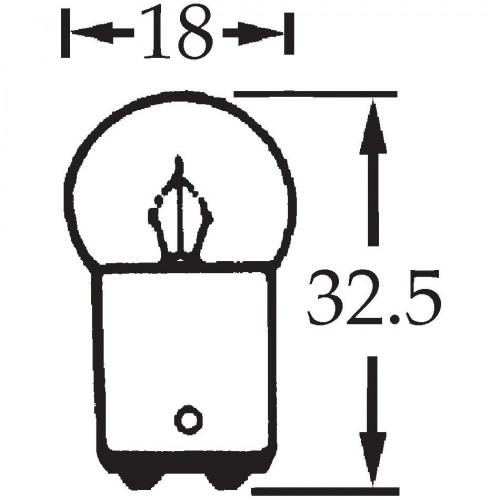 12v 5w Double Contact Bulb BA15d Cap LLB209 image #1