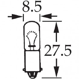 6v 4w Single Contact Bulb BA9s Cap LLB293