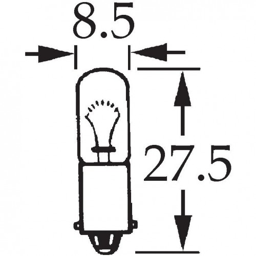 12v 4w Single Contact Bulb BA9s Cap image #1