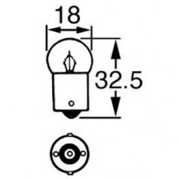 12v 10w Single Contact Bulb BA15s Cap LLB245