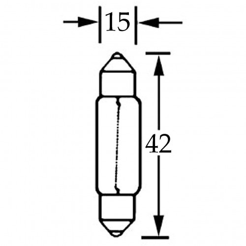 Bulb Festoon 12v 15w  LLB267 image #1