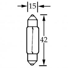 Bulb Festoon 12v 15w  LLB267