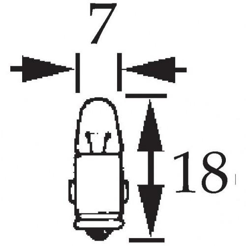 12v 2w Single Contact Bulb BA7s Cap LLB281 image #1