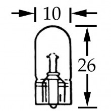 Capless Bulb 12v 5w (W2.1x9.5d)