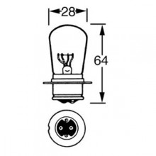 12v Bulb for BPF Headlamps - Dips to the Left - 50/40w LLB414