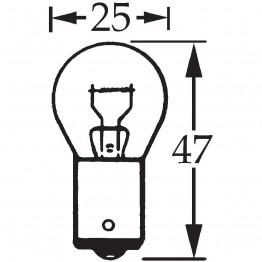 6v 21w Single Contact Bulb BA15s LLB317