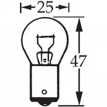 6v 18w Single Contact Bulb BA15s LLB316