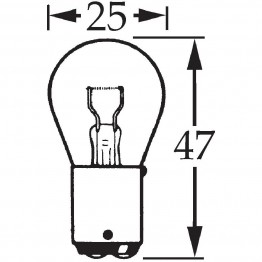 12v 21w Double Contact Bulb BA15d Cap LLB335