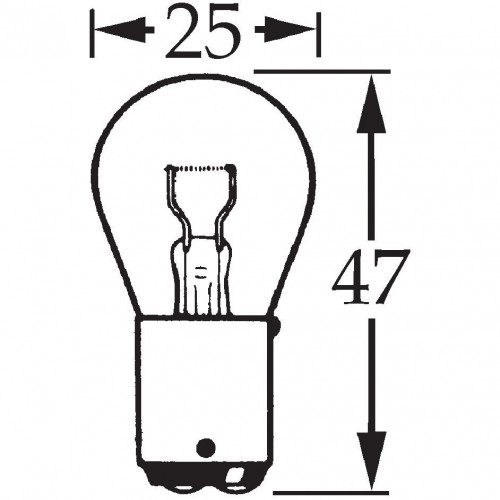 6v 21w Double Contact Bulb for Flashers BA15d LLB319 image #1
