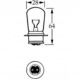 12v Bulb for BPF Foglamps 38w - Double Contact LLB326