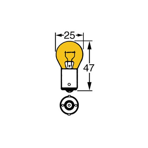 Amber 12v 21w Single Contact Bulb BA15s Cap LLB343 image #1