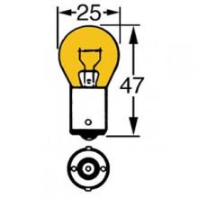 Amber 12v 21w Single Contact Bulb BA15s Cap LLB343