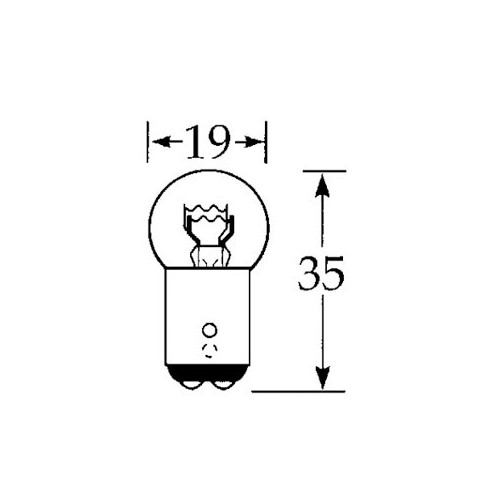 12v 21/5w Offset Pin Double Contact image #1