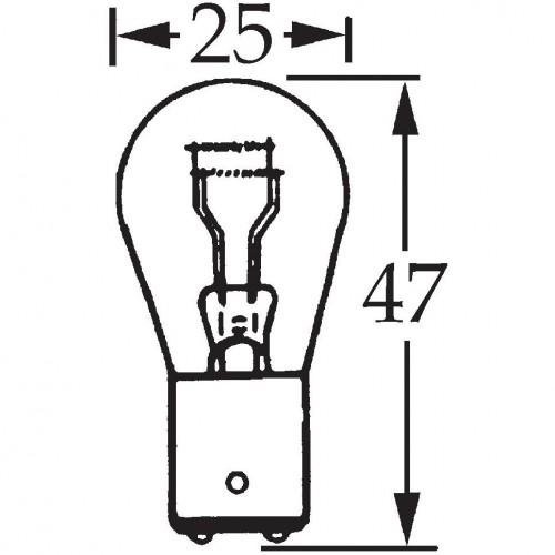 12v 21/5w Parallel Pin Double Contact Bulb BA15d Cap LLB381 image #1