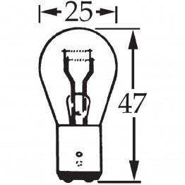 6v 5/21w Offset Pin Double Contact Bulb BA15d Cap LLB384