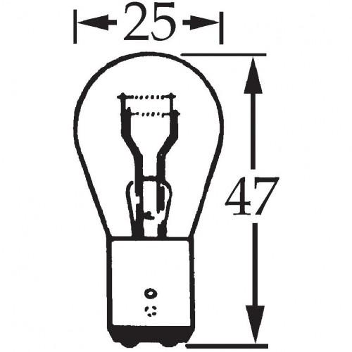 6v 5/21w Offset Pin Double Contact Bulb BA15d Cap LLB384 image #1