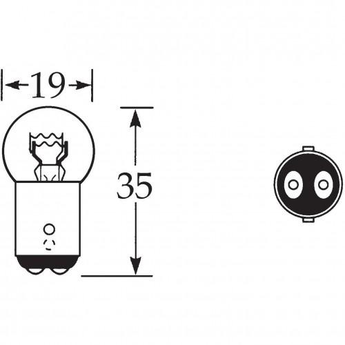 6v 5/21w Bulb Offset Pin D.C. LLB384/S image #1
