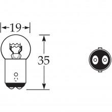 6v 5/21w Bulb Offset Pin D.C. LLB384/S