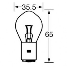 6v Bulb Double Contact Bosch/P100 35/35w LLB393