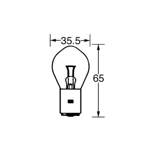 6v Bulb Double Contact Bosch/P100 35/35w LLB393 image #1